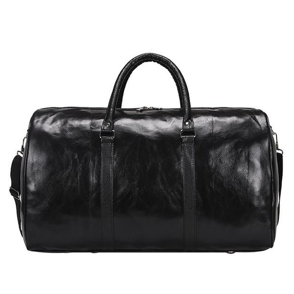 Bolso de viaje de los hombres retro de gran capacidad calidad cuero de la PU bolso de los hombres ocasional impermeable hombre y mujer bolsa de viaje stoage