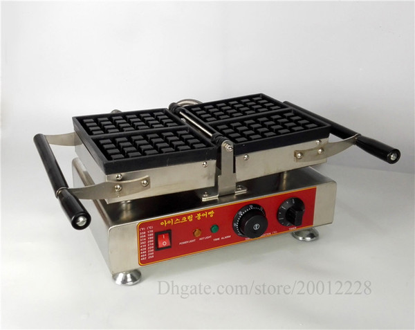 Commercial Conact Waffle Machine 4 Molds Belgian Rectangle Waffle Baker Nonstick Cooking Surface 1500W 220V 110V Brand New CE