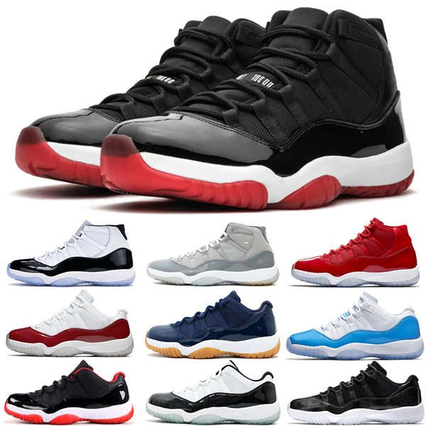 Jordan Air Retro 11 Men Basketball Shoes 11s Bred Concord Platinum Tint Space Jam Gamma Blue Designer Sneakers XI Men Women Sport Shoes 5-13