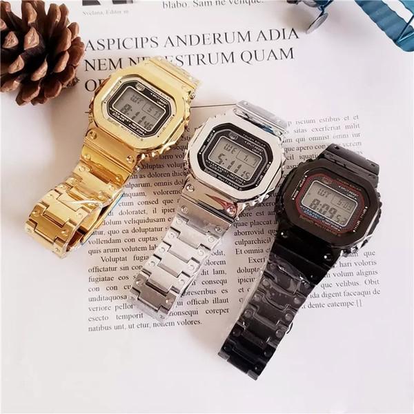Modelos comuns GMW-B5000 DW5600 esportes ao ar livre relógio de quartzo dos homens multi-função à prova d 'água e à prova de choque display LED Frete grátis