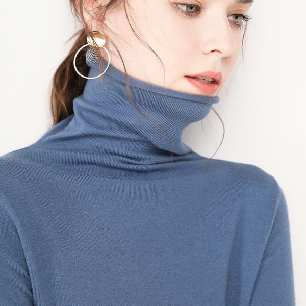 Neue 2019 Frauen Pullover Mode weiblichen Rollkragen Kaschmirpullover Frauen Strickpullover Frauen Sweter Winter Tops