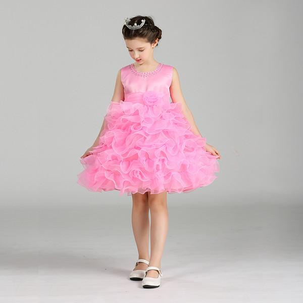 d51b0cb0044e3 Princess Flower Girl Dress Summer Tutu Wedding Birthday Party Dresses For  Girls Children'S Costume Teenager Prom Designs Watters Flower Girl Dresses  ...