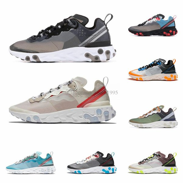 New React Element 87 55 Running Shoes for Men Women Top Quality Sail Royal Tint Fashion Mens Trainers Lightweight Sports Sneakers