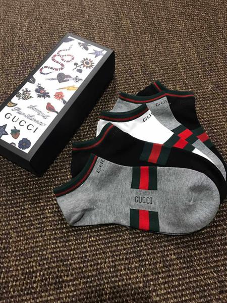 chaussettes courtes de marque pour hommeconcepteur calcetines sport Hip hop lettre haut de gamme de la mode chaussettes de basket-ball hommes de luxe 5 paires / Box