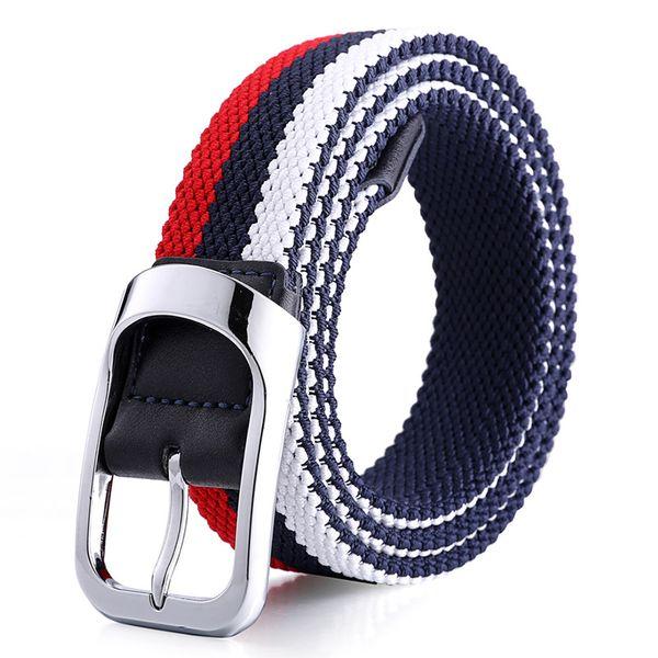 Fashion Elastic Belts for Hiphop Skateboard Good Quality Men Women Casual Waist Strap Sport Outdoor Durable Belt Metal Buckle