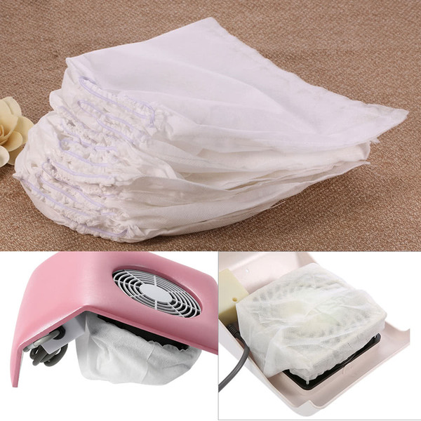 10Pcs White Non-woven Replacement Bags For Nail Art Dust Suction Collector High Quality Nail Art Salon W4347