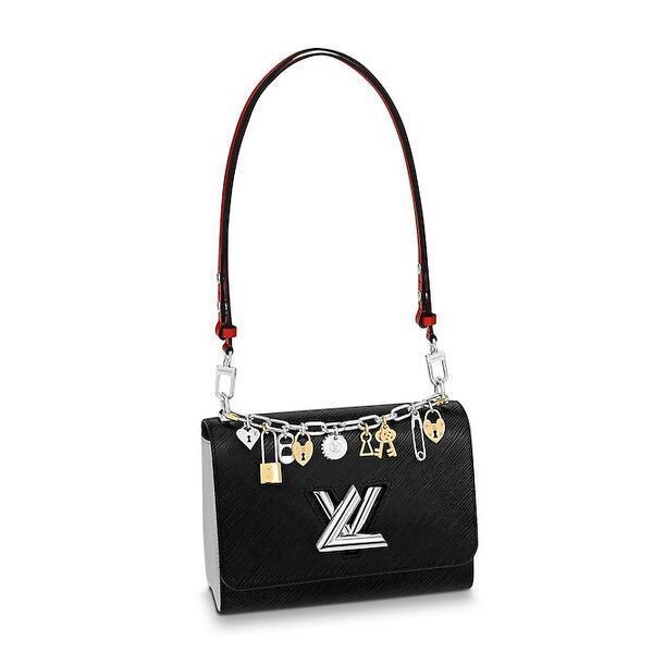 LVLV Twist Handbag luxury designer brand Lovers Evening Party Valentine Authentic Epi Leather Handbags Cross Body Bags TWIST PM M50524 Or
