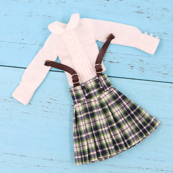 factory blythe Outfits for Blyth doll Scottish Skirts and shirt for the 12 inch doll joint or rubber body great dressing icy,pullip,licca