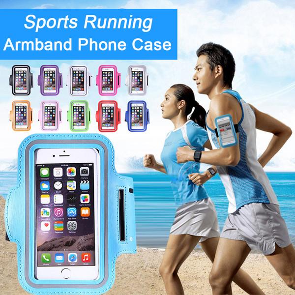 Para iPhone X Xs Máx. 8 7 Plus Impermeable Deporte Funcionamiento Brazalete Funda Funda Funda para teléfono móvil Para Galaxy S9 S8 más Nota 8