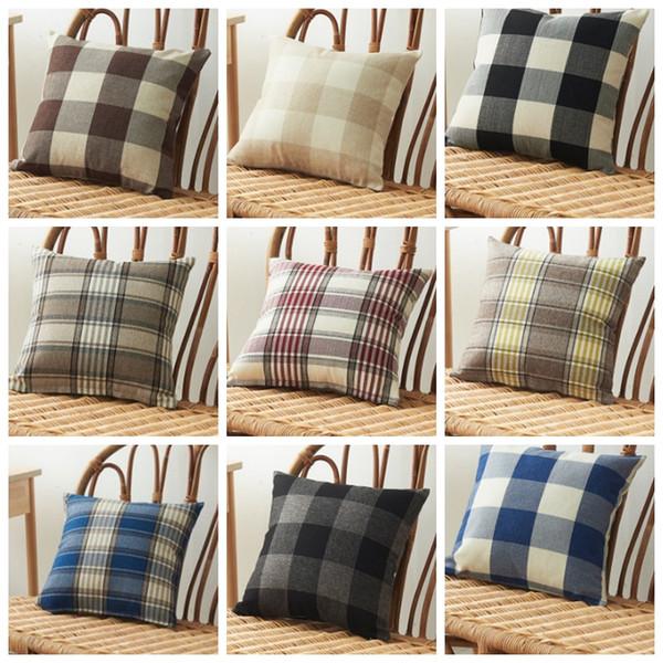 Housses de coussin Plaid Coussin Case Linge décoratif Coussin Taie Canapé Couch Couverture Literie Fournitures 14 Designs 20pcs DW4525