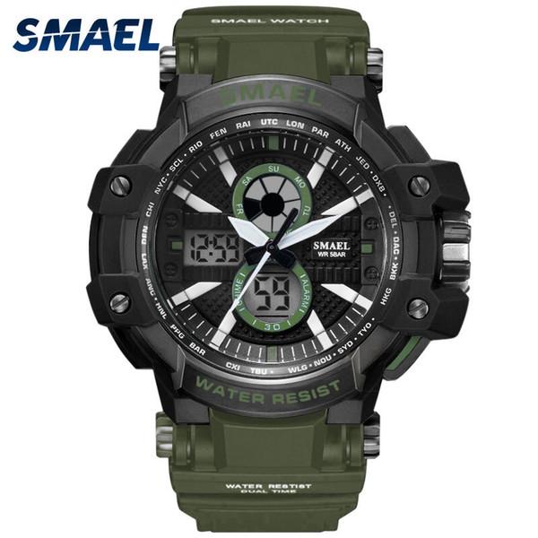Sport Watches 50M Waterproof SMAEL Fashion Men Watch S Shock Male Clock relogios masculino Watch Man 1509B Military Watches Army