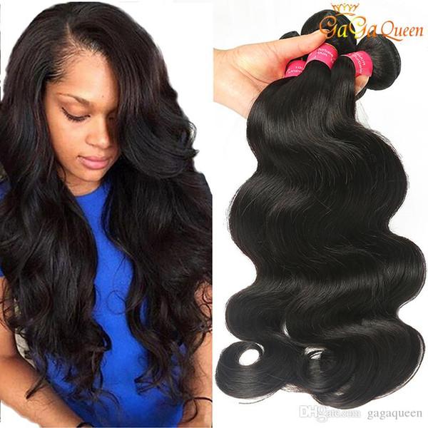 8a Mink brasileña onda del cuerpo recto onda profunda Ola pelo sin procesar extensiones del cabello humano brasileño de la armadura del cuerpo del pelo de lotes