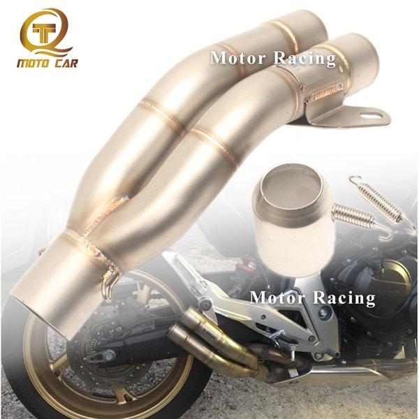 Mivv de escape de la motocicleta dbkiller de escape del silenciador 51 Doble salida para el sistema de escape Z800 Z750 Z250 pitbike