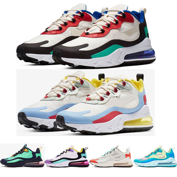 2019 react men running shoes top quality BAUHAUS OPTICAL BRIGHT VIOLET fashion mens trainers breathable sports sneakers size 36-45