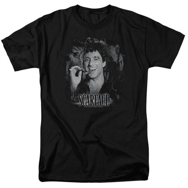 Scarface Movie Tony Montana Cigar SMOKEY SCAR Camiseta para adultos con licencia Todos los tamaños
