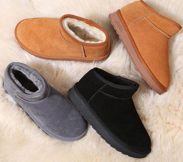 Avustralya kar botları klasik deri süet deri su geçirmez kış sıcak çizmeler marka Ivg tasarımcı ayakkabı kodu EU34-43