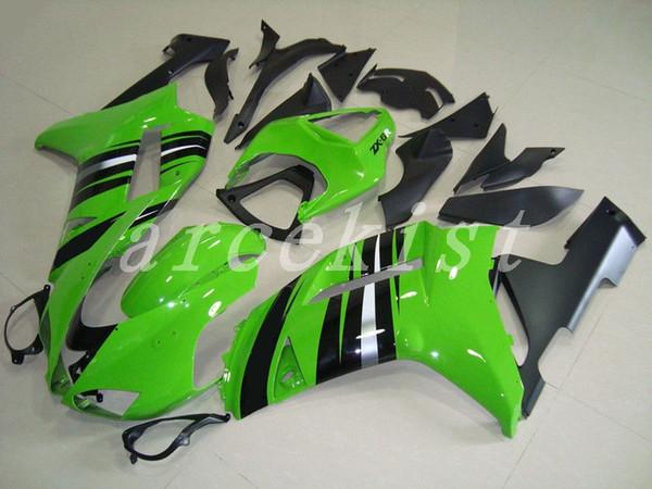 Новый комплект обтекателей для мотоциклетных АБС, подходит для Kawasaki Ninja ZX6R 636 2007 2008 07 08 6R Custom free Зеленый черный