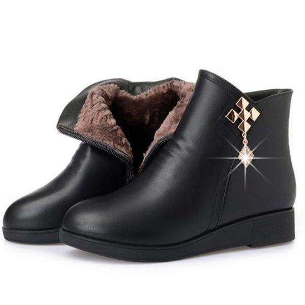 bottes d'hiver noires