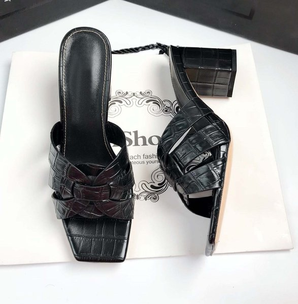 Siyah 6.5cm topuklar