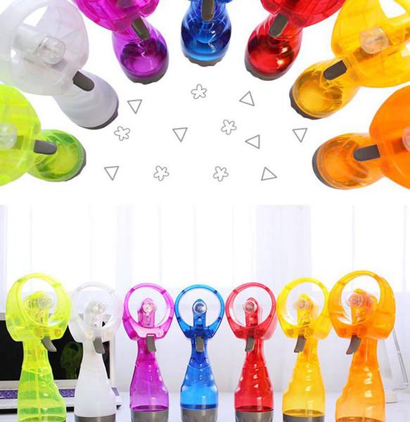 water Spray fan Portable Travel Handheld Battery Water Spray Cool Mist Fan Bottle misting fan KKA6892