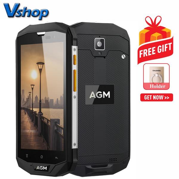 AGM A8 Triple Proofing Phone 3GB + 32GB EU Versione 4050mAh Batteria IP68 Antipolvere impermeabile Antiurto 5.0 pollici Android 7.0 Dual SIM (Nero)