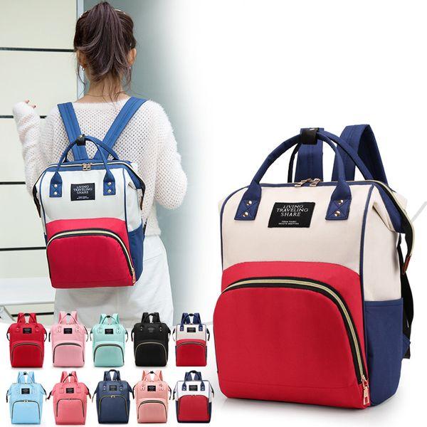 top popular Mommy Bags Fashion Mother handbag Multifunction Diaper Maternity Backpacks Outdoor Desinger Nursing Travel Bags 15 colors C2490 2021