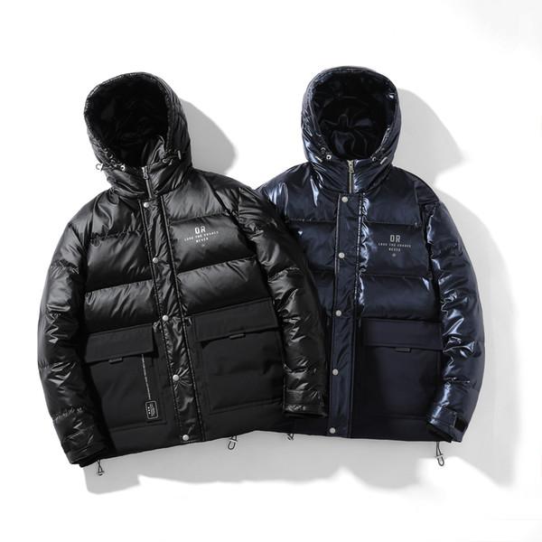 2019 Mens конструктора зимы куртки пальто Толстой Ветровка Марка пальто молния вниз куртки Открытого Спорт куртка Плюс размер Бесплатной доставка ZCM208