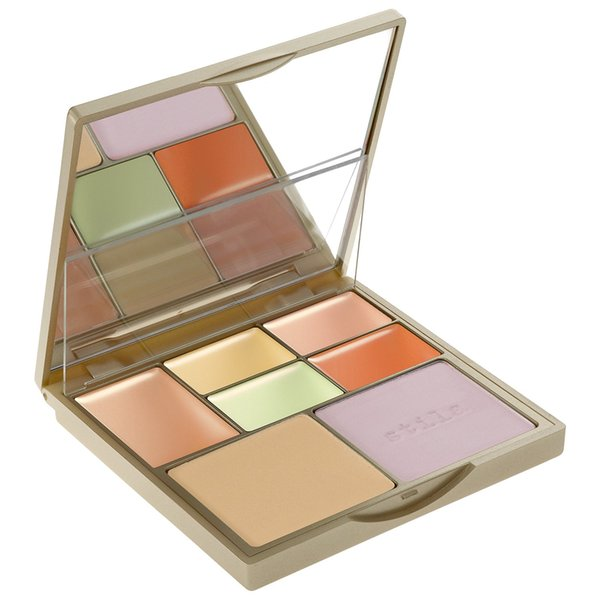 Brush Works Face Makeup Correct & Perfect All-In-One Color Correcting Pressed Powder Concealer Palette 12.9g Stila Cosmetics