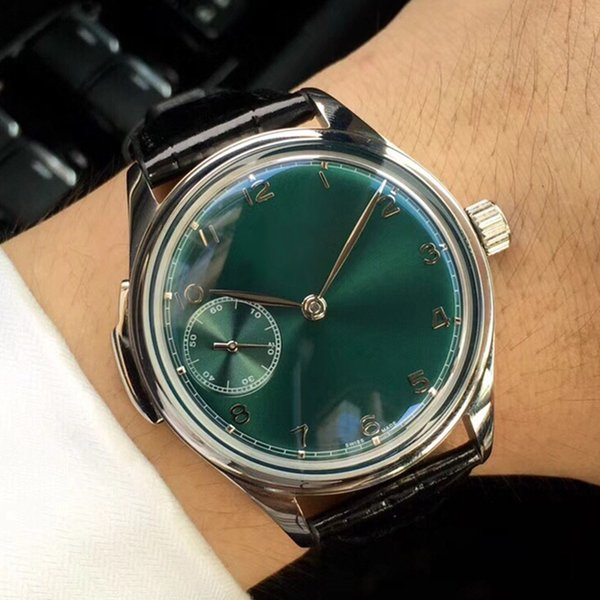 Модные мужские дизайнерские часы с ручным механическим механизмом из нержавеющей стали, корпус циферблата, размер 44мм10мм итальянский кожаный ремешок мужские часы A150