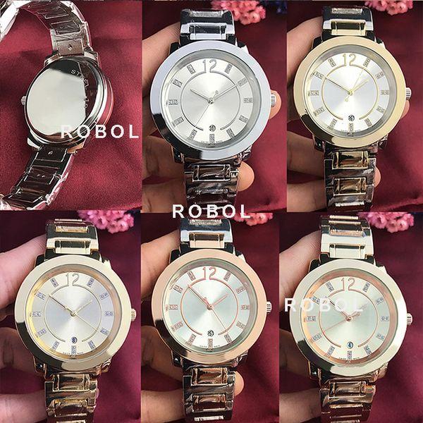 ROBOL Stainless Steel Men Women Couples Quartz Watches Fashion Luxury Jewelry Gift Precision Temperament Original Copy Jewelry