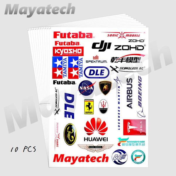 Mayatech Autocollant De Voiture Aile Fixe Hélicoptère UAV modèle rc Shell Simulé Paster Personnalité Décoratif Applique Pièces