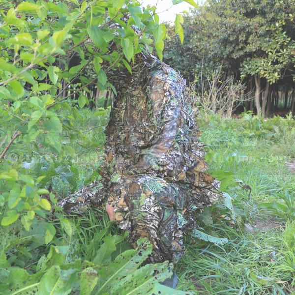 3D лесной камуфляж одежда унисекс стрельба обучение снайпер дышащий охота слепой Ghillie костюм с сумкой для переноски