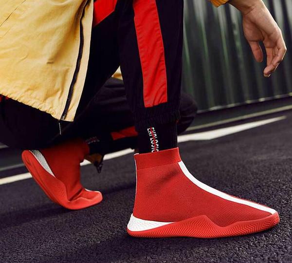 Primavera 2018 novos sapatos casuais homens e mulheres moda personalidade voar tecido preto e branco sapatos 39-44 entrega gratuita