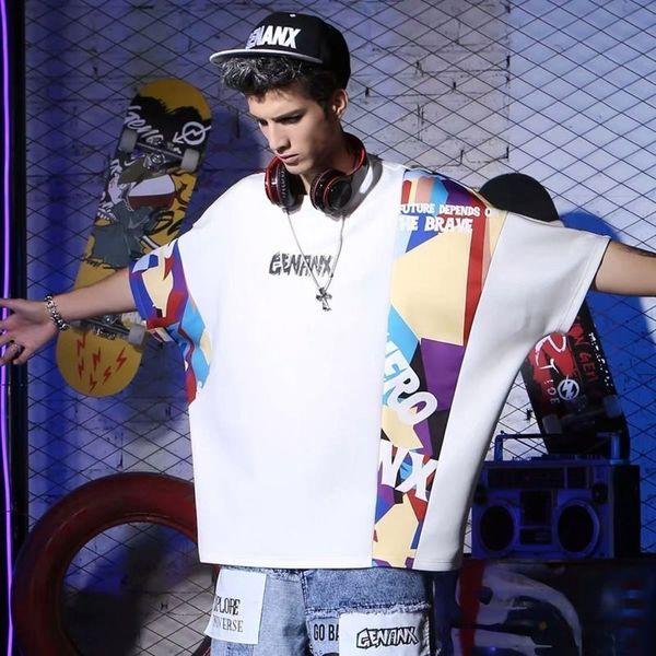 Hip-hop Street Tide Brand Easy Short Sleeve Schoolboy Trend Sleeve Ins t-shirt fashion