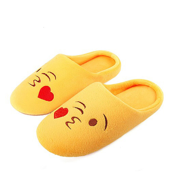 Embroidery Cute Emoji Soft Bottom Women Slippers 2019 Winter Indoor Wood Floor Cozy Soft Stuffed Home Shoes Cotton Pantuflas