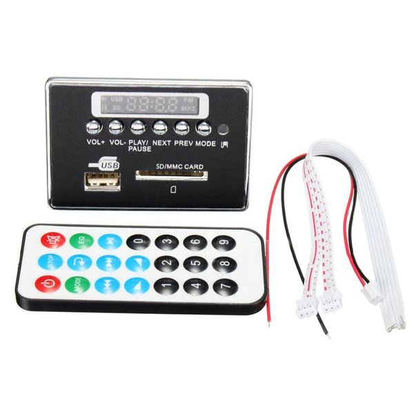 - Universal Portable LED 12V Car Travel MP3 Player Bluetooth Decoder Board Remote Control RC FM Radio USB SD AUX Set High Qualit