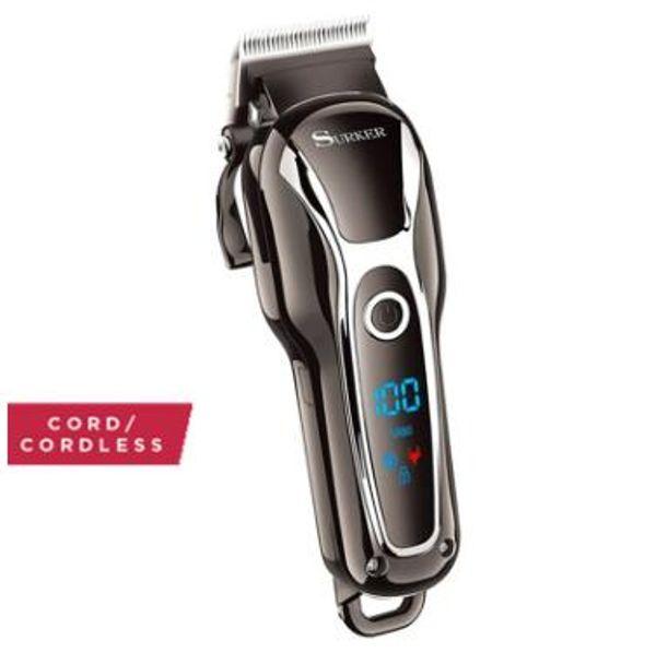 Yeni Turbo berber saç makası profesyonel saç düzeltici erkekler sakal araba elektrikli ayarlanabilir saç kesme makinası
