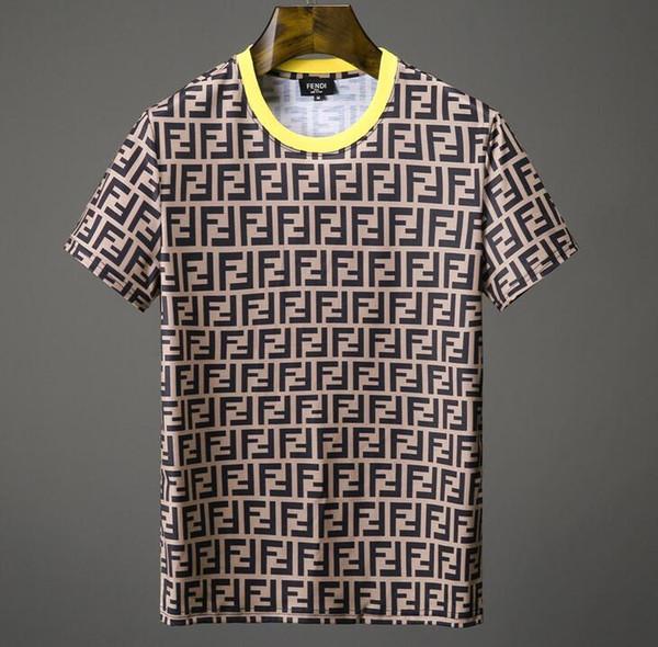 2019 HOT 18ss neuesten FF Mode lässig Herren Marke Wolf Herren kurzarm T-Shirt O-nackte Medusa Herren T-Shirt lässig T-Shirt