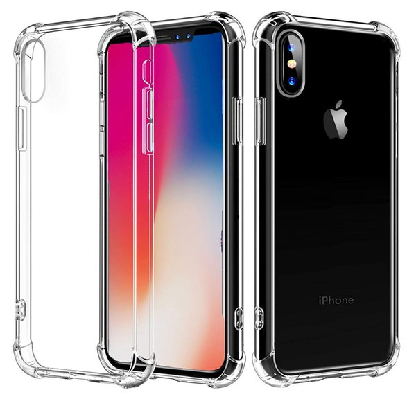 for iPhone X Case, Crystal Clear Shock Absorption Reinforced Corners TPU Bumper Cushion + Hybrid Rugged Transparent Panel