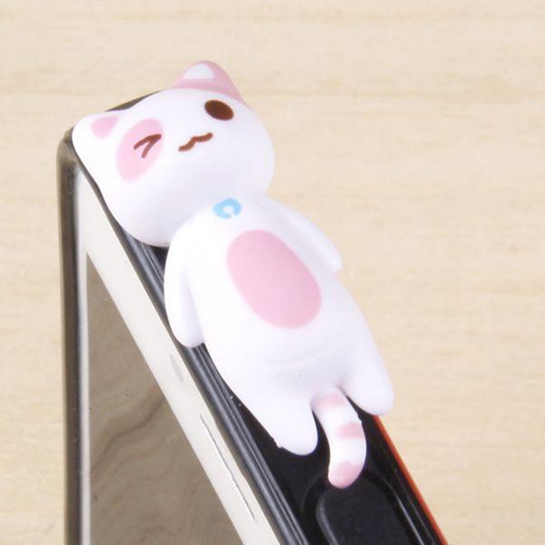 cute recumbent cat 3.5mm Anti Dust Plug for iPhone/HTC/Samsung