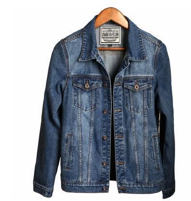 Весна осень новый мужской джинсовой джинсовой куртки корейский верхняя одежда пальто тонкий ретро молодежный красивый куртка джинсовая одежда прилив