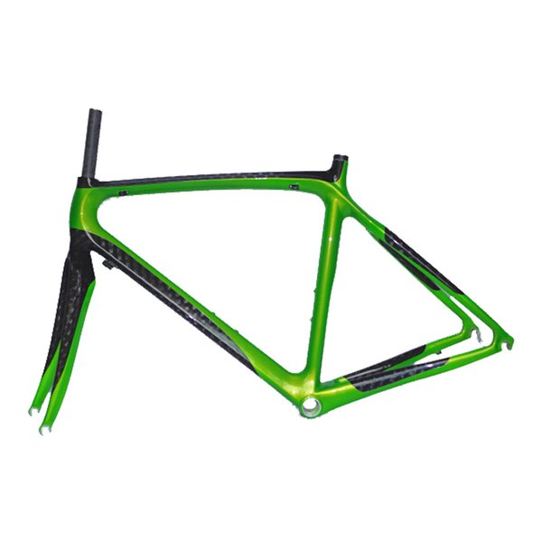 700C Pearl green and black 12k carbon fiber road frame NEASTY brand frame custom bicycle frame and carbon fibre fork DIY painting