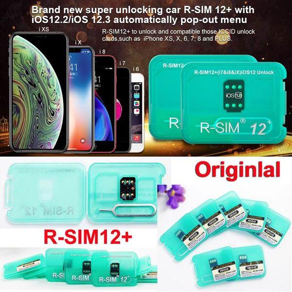 R-SIM12 + RSIM12 + RSIM 12 + Otomatik kilidini IOS 12.2 / IOS 12.3 Otomatik açılır menü RSIM açma sim kart iphone XS / X iPhone8 / 7/6 / Artı ücretsiz DHL