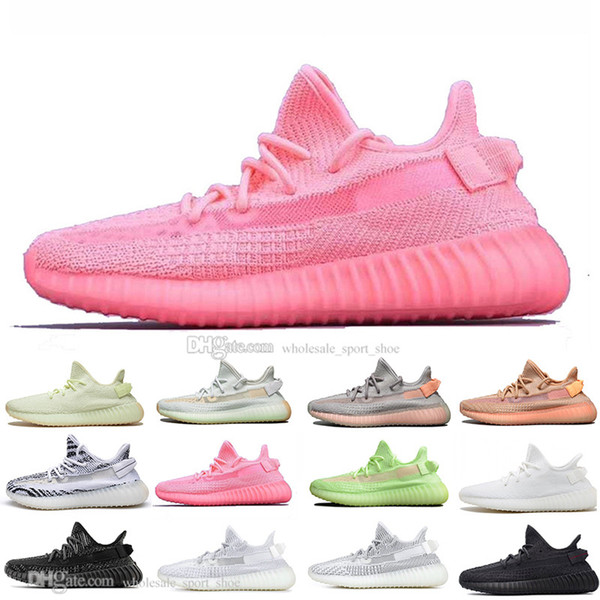 Chaude Kanye West Clay V2 Static Reflective Rainbow Décoloration Hommes Chaussures De Course Hyperspace True Form Zebra Femmes Sports Designer Baskets