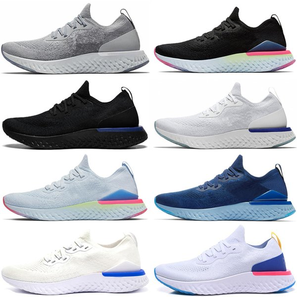 Nike Epic React Flykni Reagir Elemento sapatos 87 de corrida para mulheres dos homens brancos NEPTUNE azul branco mens VERDE treinador desenhador respirável esportes tamanho