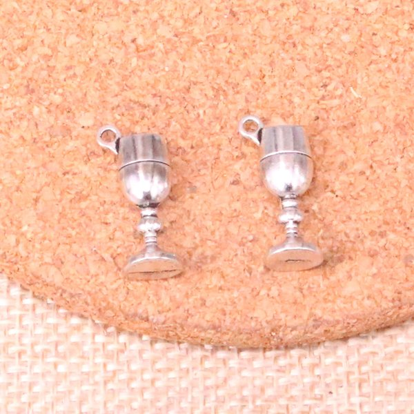 133pcs Charms wine glass Antique Silver Plated Pendants Fit Jewelry Making Findings Accessories 20*7*5mm