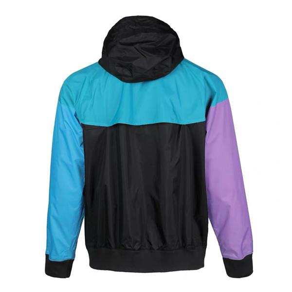 Yeni Tasarımcı Marka Erkek Ceket Spor Marka WINDBREAKER Patchwork Coat Baskı Zip Kapüşonlular Gündelik Running Dış Giyim Toptan S-2XL NE6219