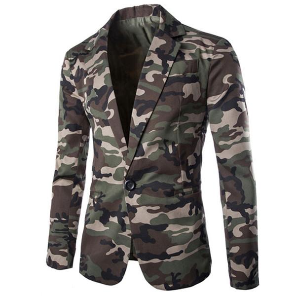 Estilo europeu Exército Designer Casuais Mens Terno Casacos Blazer Camuflagem Terno Vestido Jaquetas e Casaco Slim Fit Streetwear B598