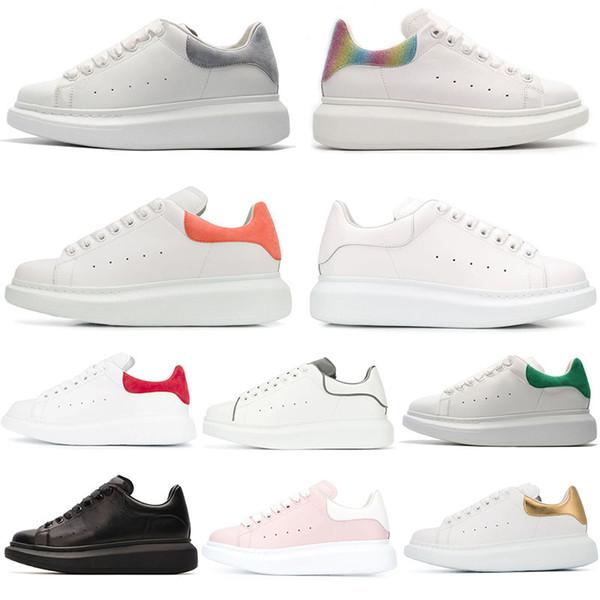 Alexander McQueen Designer Hommes Femmes Sneaker Casual Chaussures Mode Plateforme Intelligente Baskets Lumineux Fluorescent Chaussure Serpent En Cuir Chaussures taille
