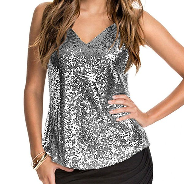 Summer Womens Tanks Fashion Designer V Neck Women Vest Applique Sequins Sashes Tops Female Sexy Clothes